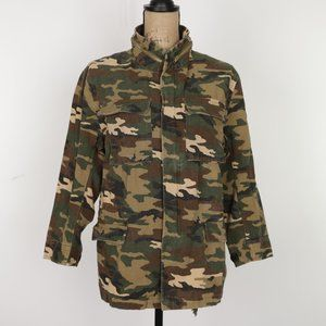 Haoduoyi Camouflage Jacket with Zipper and Snaps size M